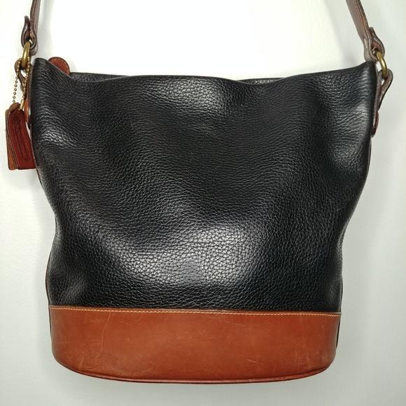 Coach Handbags - Rare 1994 Coach Sheridan Cross Body Bucket Bag 0fbae4b9b6d1e